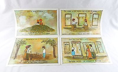 Vintage 1970's Flavia Weedn Set of Four Place Mats Dinner Mats