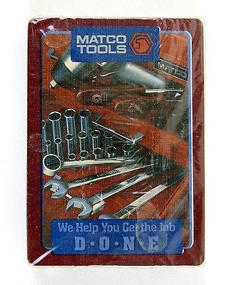 Vintage 1980's Matco Automotive Tools Poker Size Playing Cards