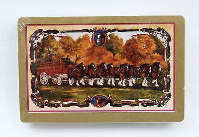 Vintage Anheuser-Busch Budweiser Clydesdales Gold Playing Cards