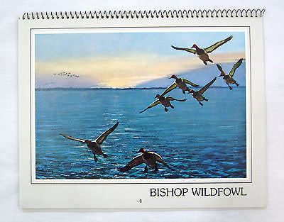 Vintage 1986 2025 Richard Bishop Wildfowl Calendar