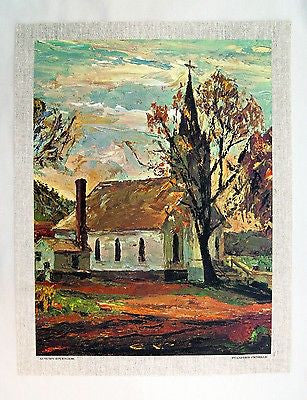 Vintage 1970's Stanford Fenelle Autumn Splendor Canvas Print