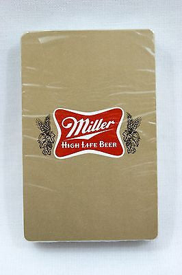 Vintage 1970's Gold Miller High Life Beer Playing Cards