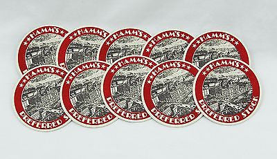 Vintage 1960's Hamm's Preferred Stock Beer Coaster Set 10 Coasters