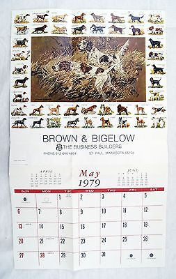 Vintage 1979 Stanford Fenelle Working Together Dog Pictorial Calendar Print