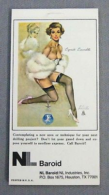 Vintage 1978 Fritz Willis Exquisite Esmeralda Pin Up Notepad and Calendar