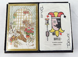 Vintage 1970's Hoyle Plant Atrium Two Deck Playing Cards Set