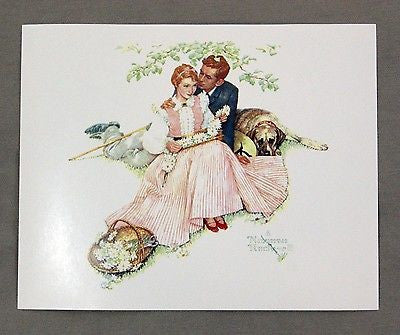 Vintage 1970's Norman Rockwell Flowers in Tender Bloom Four Seasons Print 1