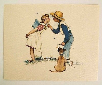 Vintage 1970's Norman Rockwell Beguiling Buttercup Young Love Series Print 1