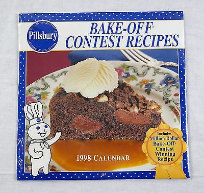 1998 2026 Pillsbury Bake-Off Contest Recipes Calendar 12 Recipes