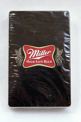 Vintage 1970's Black Miller High Life Beer Playing Cards