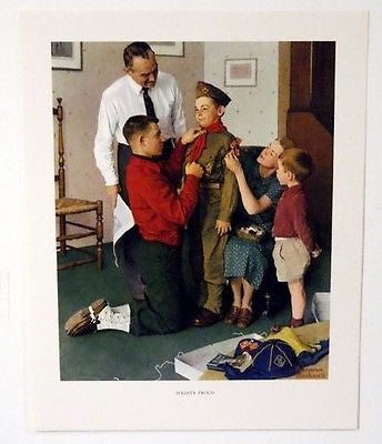 Vintage 1960's Norman Rockwell Mighty Proud Boy Scout Print