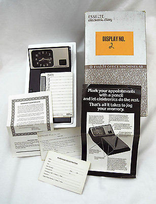 Vintage 1975 Esselte Office Machines Electronic Diary