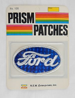 Vintage 1970's Ford Reflective Prism Patch Factory Sealed