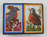 Vintage 1970's Hoyle Bluebird and Robin Embroidery Style Playing Card Set