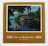 Vintage 1970's Paul Detlefsen Old River Days Color Foil Etch Fold Out Card