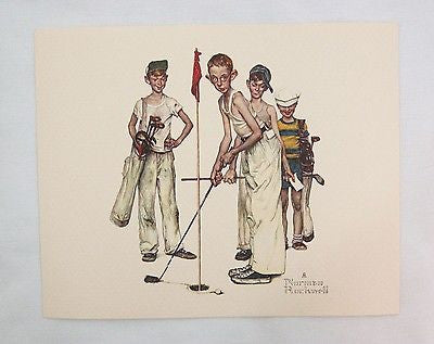 Vintage 1970's Norman Rockwell Missed Sporting Boys Golf Print