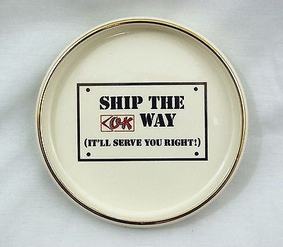 Vintage 1970's OK Trucking Company Cincinnati Ohio Ashtray