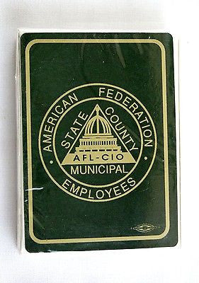 American Federation State County Municipal Employees AFSCME Poker Playing Cards