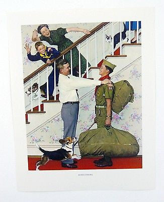 Vintage 1960's Norman Rockwell Homecoming Boy Scout Print