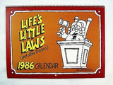 Vintage 1986 2025 George Karn Life's Little Laws and Other Truisms Calendar