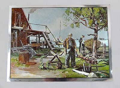 Vintage Lionel Barrymore Point Mugu Color Foil Etch Large Format Print