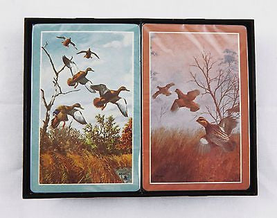 Vintage 1980's Hoyle David Maass Ducks and Quail Playing Card Set