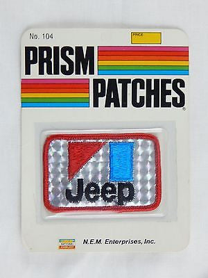 Vintage 1970's Jeep Reflective Prism Patch 3 Factory Sealed