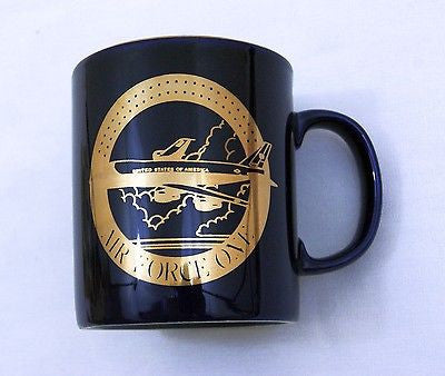 Vintage 1980's Air Force One Coloroll Ceramic Coffee Mug