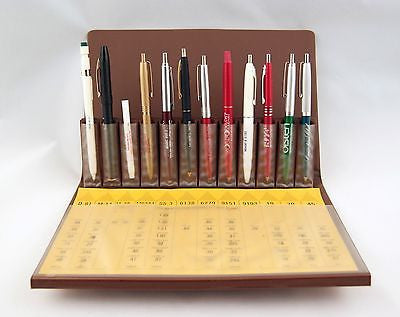 Vintage 1982 Screenline Metro Salesman Sample Pen and Pencil Set