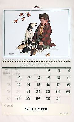 1997 2025 Norman Rockwell Pride of Parenthood Vacuum Form Calendar