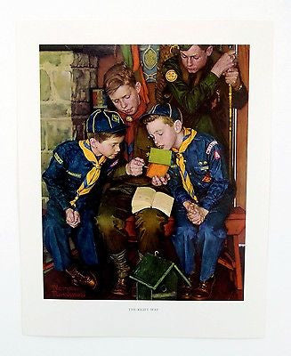 Vintage 1960's Norman Rockwell The Right Way Boy Scout Boy Scouts Print