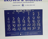 Vintage 1973 Duane Bryers The New Champ Calendar Print RARE