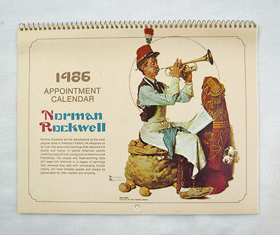 Vintage 1986 2025 Norman Rockwell Appointment Calendar 2