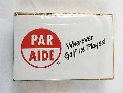 Vintage 1970's Par Aide Wherever Golf is Played Playing Cards