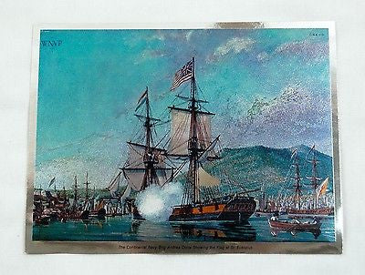 William Nowland Van Powell Andrea Doria Showing the Flag at Eustatius Foil Print