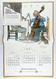 Vintage 1981 2026 Norman Rockwell Four Seasons Old Timers Large Format Calendar