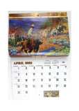 2001 2018 Art of the Wild West 13 Month Appointment Calendar
