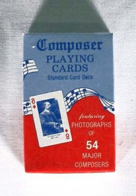 Vintage 1970's Famous Composer Playing Cards