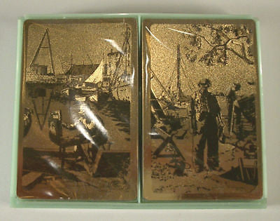 Vintage Lionel Barrymore Point Mugu and Purdy's Basin Foil Playing Cards Set