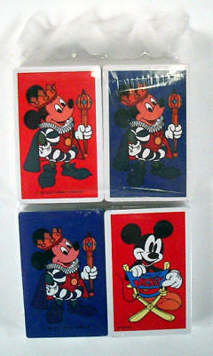 1980's Disney Mickey Mouse Four Deck Playing Card Set