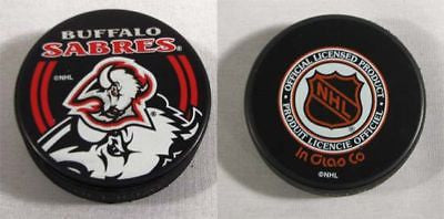 Buffalo Sabres Double Logo NHL Hockey Puck