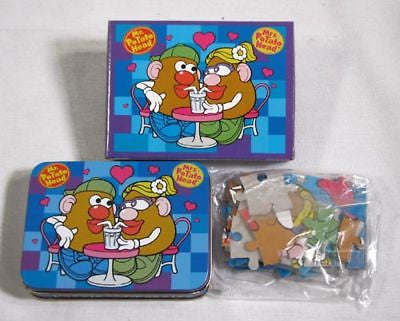 1999 Hasbro Mr. and Mrs. Potato Head Jigsaw Puzzle and Tin