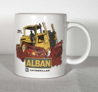Vintage 1990 Alban Caterpillar D6H Track-Type Tractor Ceramic Coffee Mug