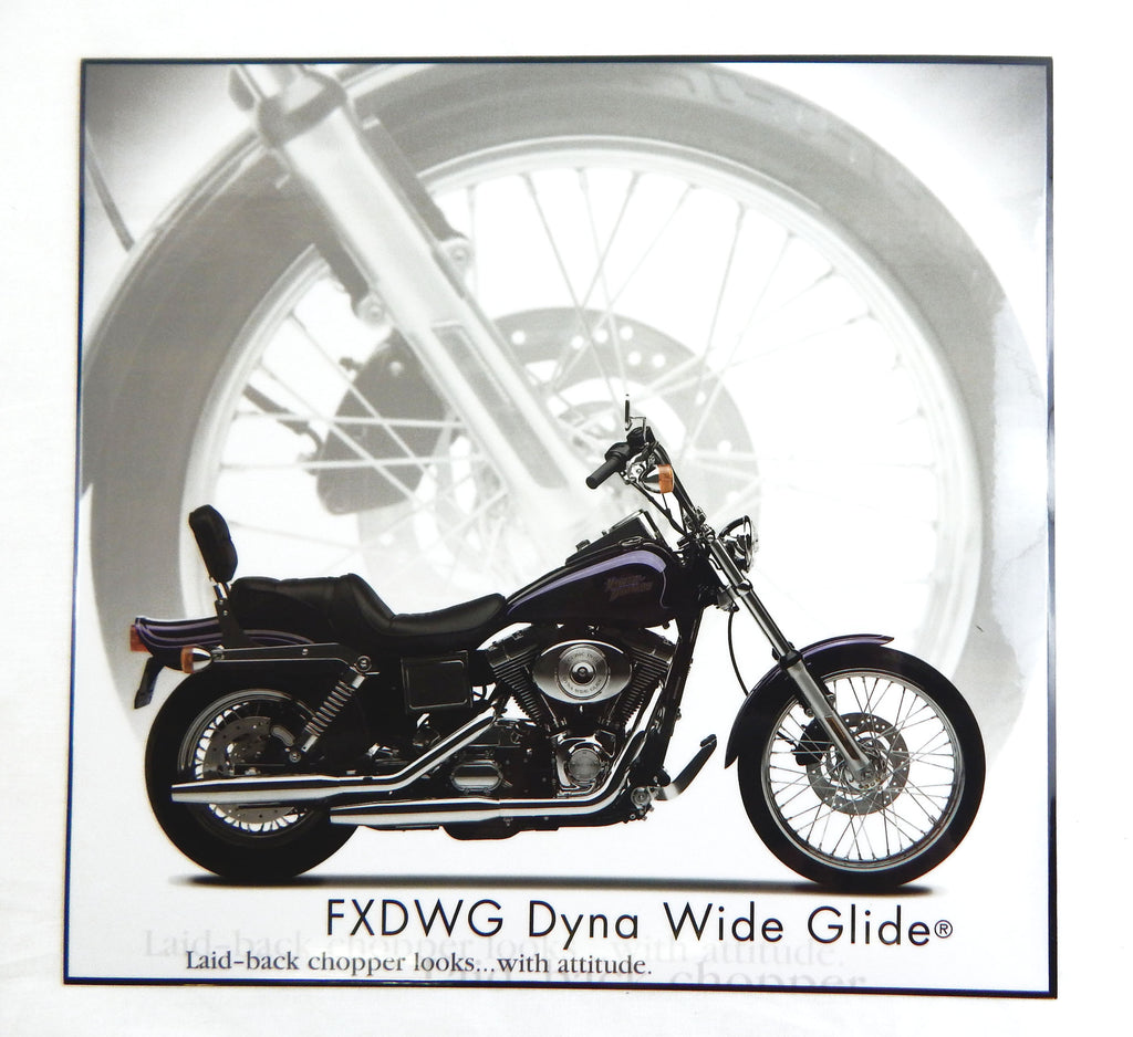 Harley Davidson FXDWG Dyna Wide Glide Motorcycle Laminated Print