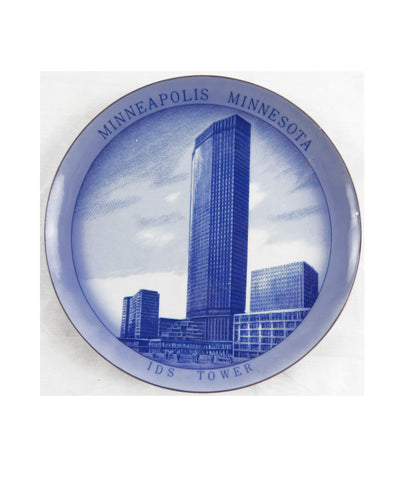 Vintage Lugene's Japan Minneapolis Minnesota IDS Tower Collector Plate
