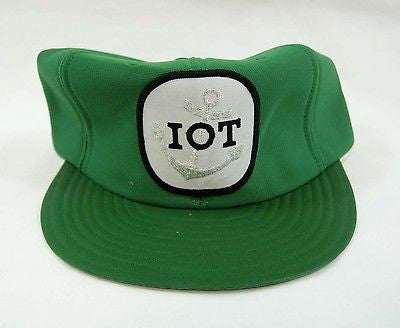 Vintage 1980's IOT Weatherproof Nautical Hat