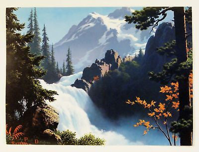 Vintage 1960's Paul Detlefsen Mountain Majesty Print