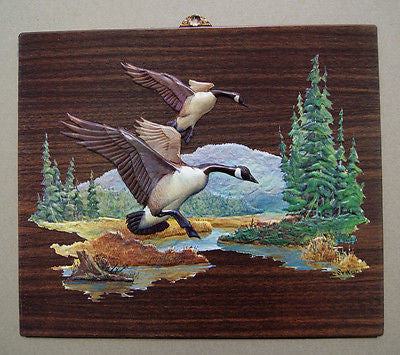 Vintage 1970's Fred Sweney Canada Geese Formcraft Vacuum Form Print 2