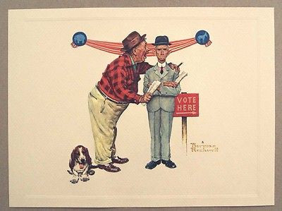 Vintage 1970's Norman Rockwell Final Speech Old Buddies Series Embossed Print