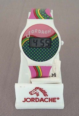 Vintage Jordache Jordach Digital Watch 2 MINT NEW BATTERY READY TO WEAR